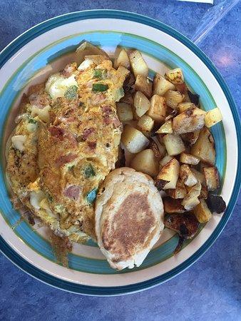 Downtown Diner: Western breakfast sandwich!