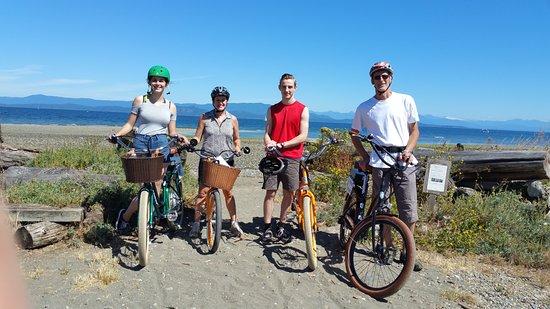 Pedego Electric Bikes: At Columbia Beach.