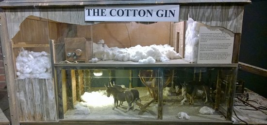 Bishopville, SC: Diorama of a cotton gin of old