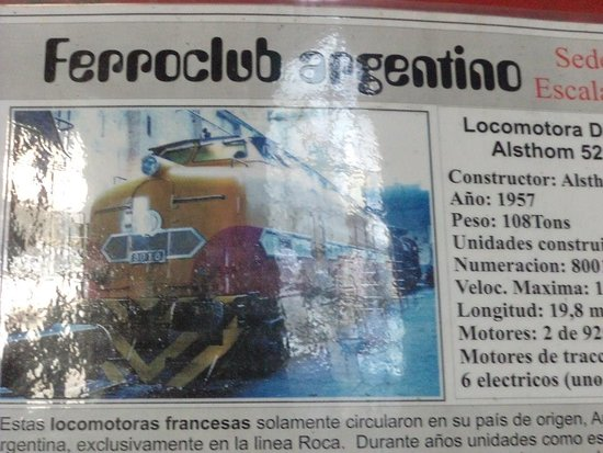 Lanus, Αργεντινή: Cartelería informativa en todas las máquinas.