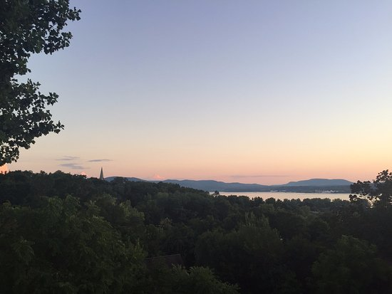 Botsford Briar: view from deck at sunset, 1st night