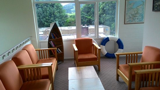 YHA Conwy: The top floor - an observation lounge.