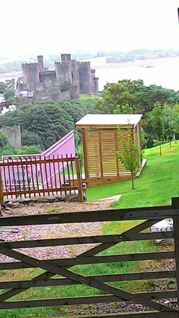 YHA Conwy: View from the grounds, castle in the distance..
