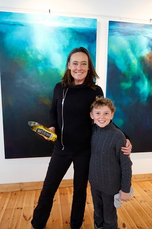 The Carol Cronin Gallery: our son with artist Carol Cronin