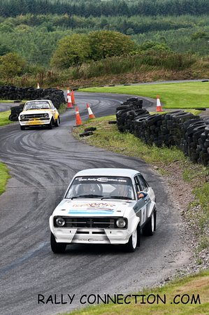 Dungarvan, Irlanda: Mk2 Ford Escorts in action at Rallyconnection