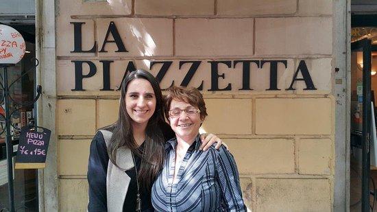 La Piazzetta de Trastevere : En La Piazzetta con amigos