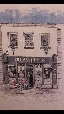 Local artists impression of our dog friendly little café here in the heart of Dalkey village