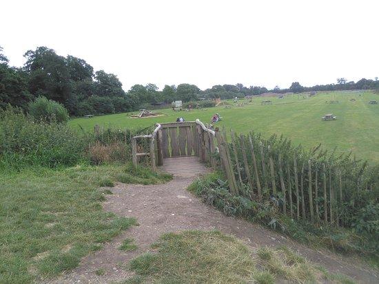 Shrewsbury, UK: View from top of mound