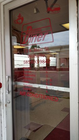 Modern Diner: Front door, call as it late in the day as they don't list a closing time