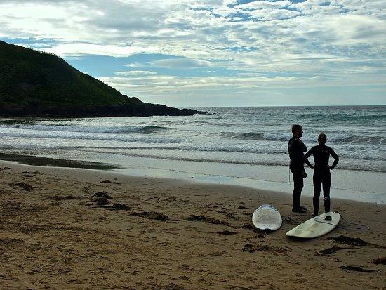 Aberdaron, UK: Surfers