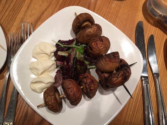 Dunblane, UK: Mushroom with garlic mayonnaise.