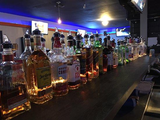 Rossford, Ohio: Bottle Shelf In the Sports bar lounge