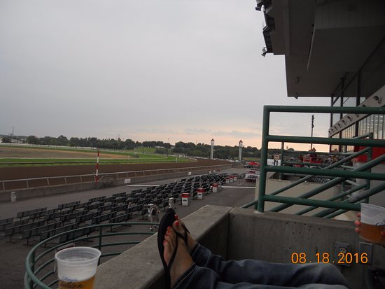 Canterbuy Downs Horse Racing Track: Grandstands looking right