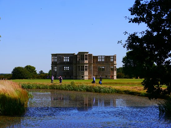 Oundle, UK: Lyveden from around the moat (23rd August 2016).