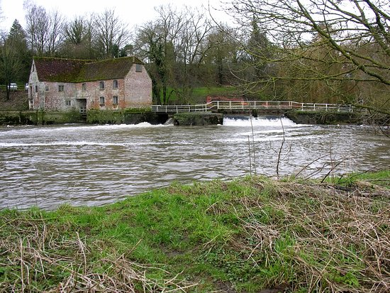 Sturminster Newton Mill: View from of the Mill from the water medows