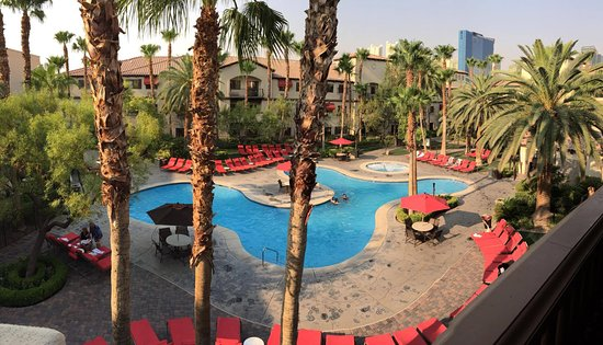 Tuscany Suites & Casino: View of the pool at Tuscany Resorts
