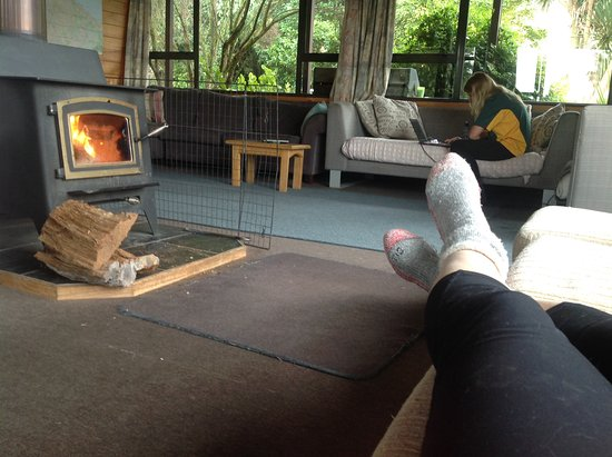 Te Kuiti, Nuova Zelanda: Warm and cosy lounge