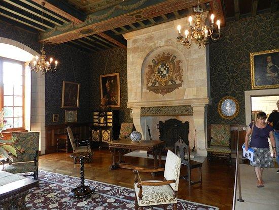 Azay-le-Ferron, Francia: Grande cheminée dans une pièce du château