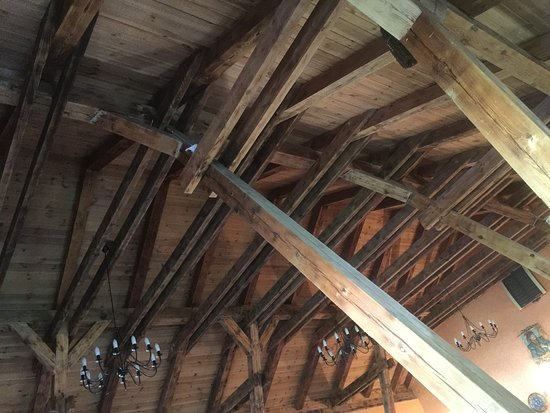Siemiany, Pologne : Wooden roof