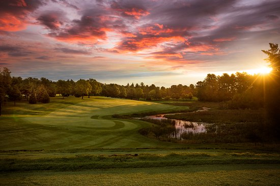 Spooner, WI: A view of our signature hole, number 18, which is both challenging and fun!