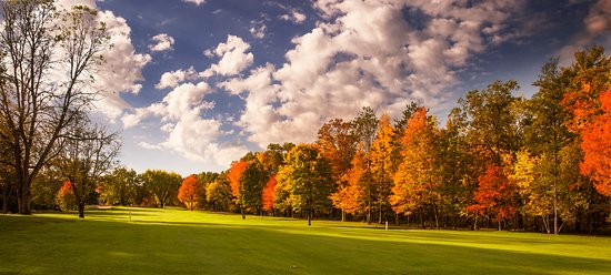 Spooner, WI: Our hole number 16 is showing its beautiful fall colors!