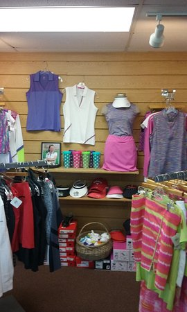 Spooner, WI: Our pro shop has a great selection of men's and women's clothing. We also offer the latest golf