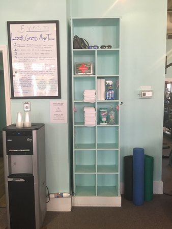 Carillon Beach, FL: We offer complimentary bottled water, filtered water for refills, clean towels, and earbuds for