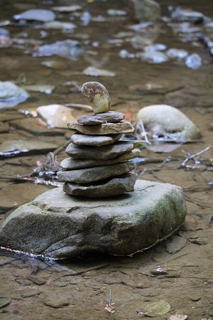 Logan, OH: Rock cairns left by other hikers