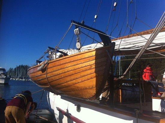 Anacortes, WA: Adventuress at the docks