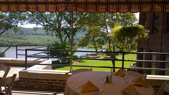 West Point, NY: A view of the Hudson River on the veranda of MacArthur Riverview Restaurant