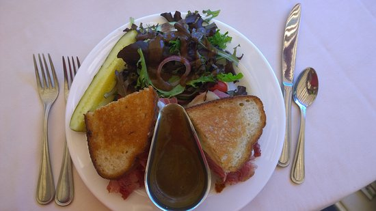 West Point, NY: Thayer Reuben Grilled Sandwich with House Salad