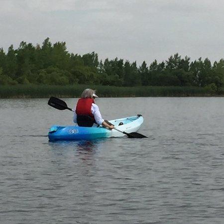 Aurora Reservoir: A quiet kayak trip along the shore.
