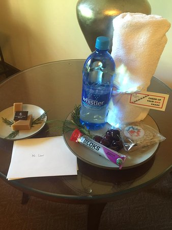 Four Seasons Resort and Residences Whistler: Welcome treats - Ironman Canada