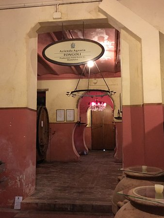 Montefalco, Italy: barrel aging rooms - Winery 3
