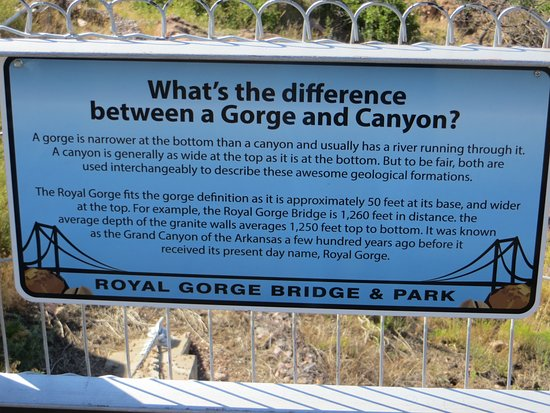 Royal Gorge Bridge and Park: Nice explanation