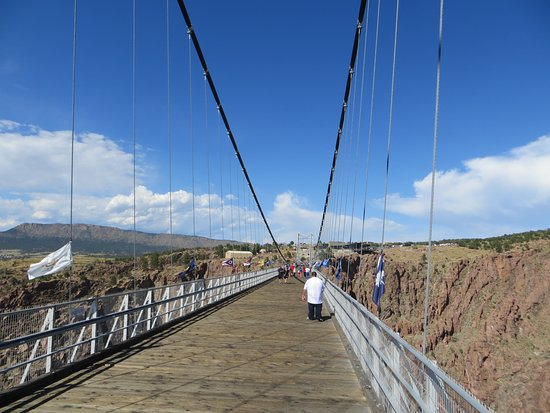 Royal Gorge Bridge and Park: A view from the center of the bridge