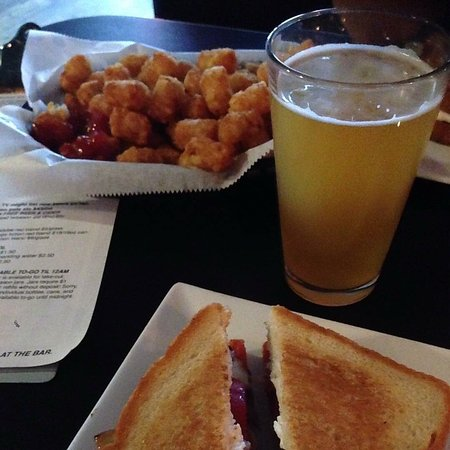 Good beer and good grilled cheese