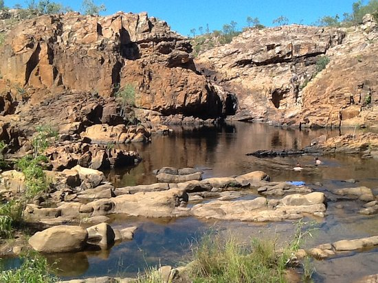 Katherine, Australia: Great swimming hole or even a cooling off dip after he walk