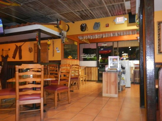 Pembroke Pines, FL: White rice, shrimp sauce, inside restaurant