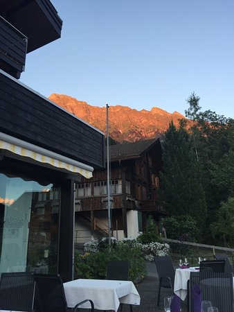 Hotel Baeren: View from dining patio