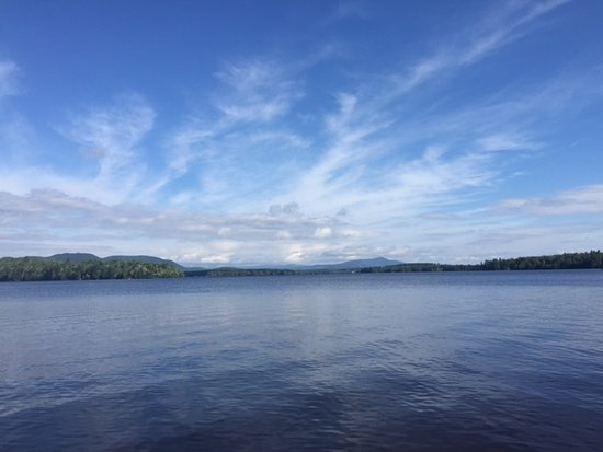 Errol, NH: Lake Umbagog from the boat dock.