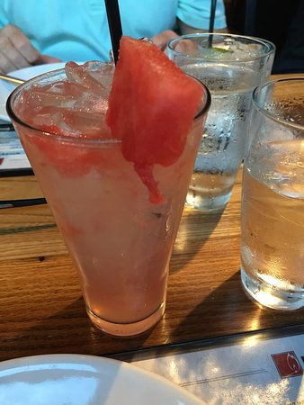 Ashburn, VA: Watermelon infused Vodka Lemonade drink