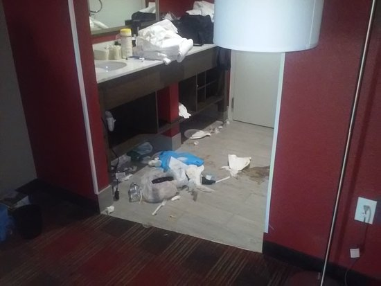 Capitol Heights, MD: The damage after a little bit of cleanup from the staff.