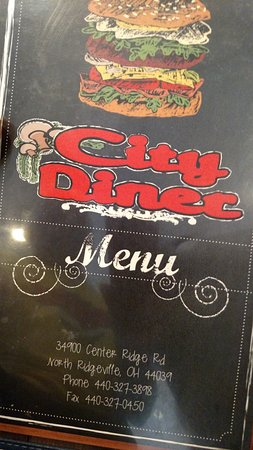 North Ridgeville, OH: Menu cover