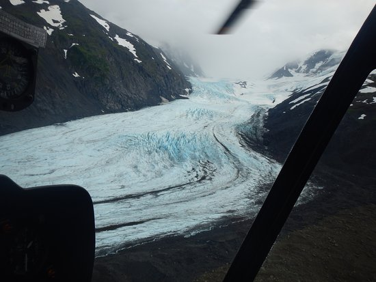 Girdwood, AK: View of 20-mile glacier from our flightseeing tour.