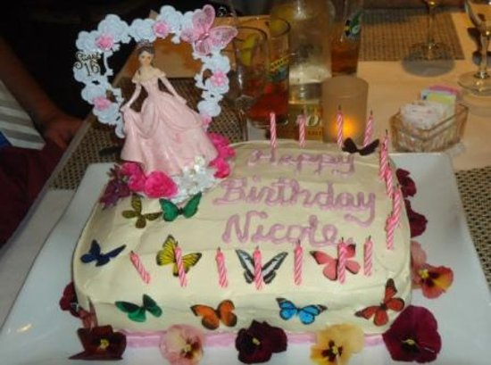 Daughters Sweet 16 Party Cake Custom Made
