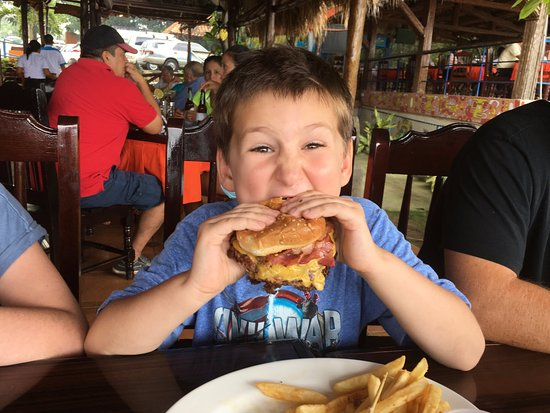 Bucanero: Javi enjoyed his burger and it looked better than the lechon.