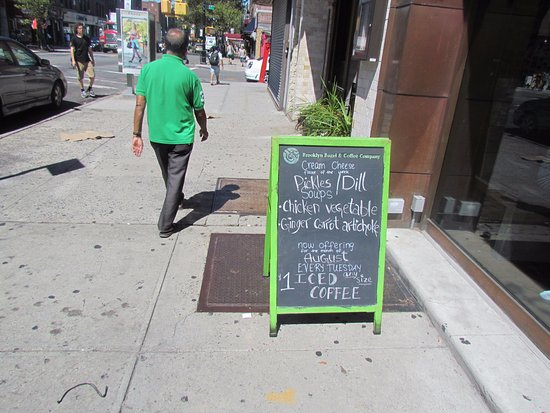 Astoria, NY: Our door menu