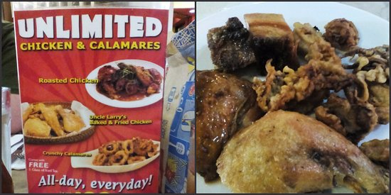 Marikina, Filippinene: Unli Chicken, Calamares & Pork Crackling