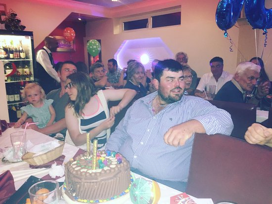 Market Drayton, UK: John Celebrating Birthday party at ORUNA